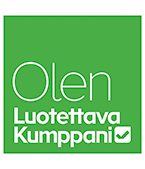 Luotettava kumppani logo